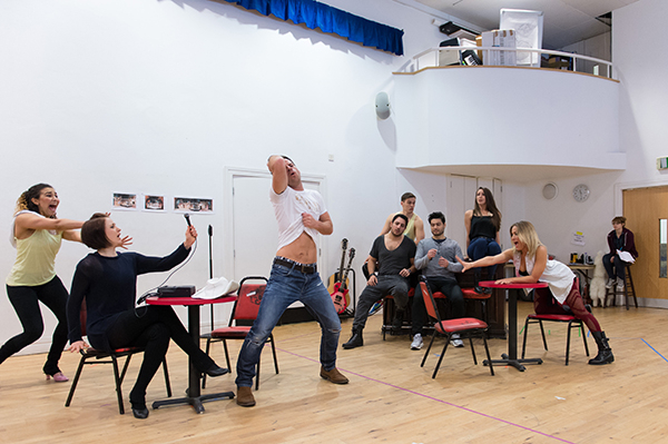 <p>The company of <em>Rock of Ages The Musical</em> UK Tour in rehearsal</p><br />© Manuel Harlan