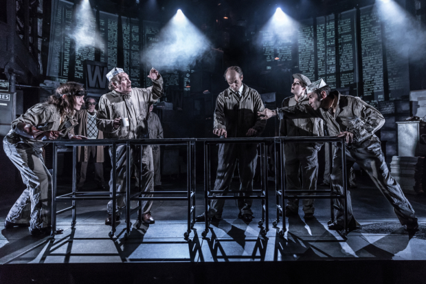 <p>The company ofTim Steed, Justin Salinger, Sophie Stanton and Richard Coyle</p><br />© Marc Brenner