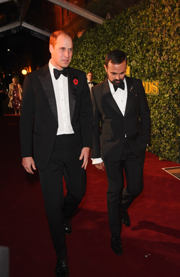 <p>The Duke of Cambridge and Evgeny Lebedev</p><br />© Dave Benett