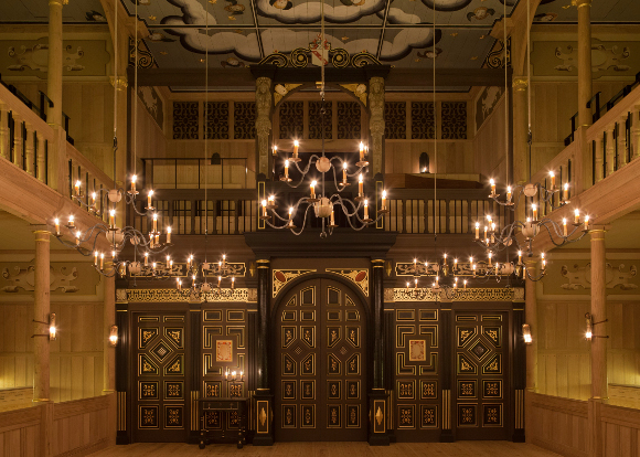 <p>The interior of the Sam Wanamaker Playhouse</p><br />© Pete Le May
