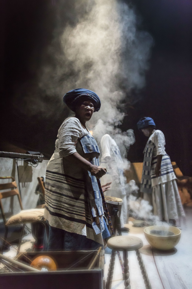 <p>The matriarchs and singers  in <em>Les Blancs</em></p><br />© Johan Persson