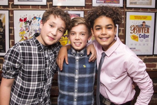 <p>The Nigels: Max Robson, Edward Hooper and Amir Wilson</p><br />©Dan Wooller for WhatsOnStage