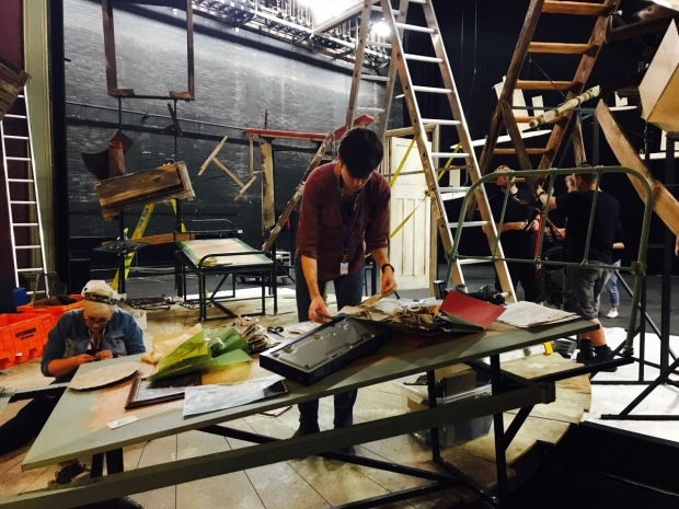 <p>The Stage Management team begin to sort through props and ephemera</p><br />© Oliver Townsend