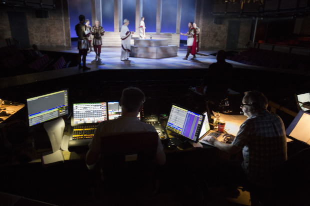 <p>The technical teams view of technical rehearsals</p><br />© Andrew Fox