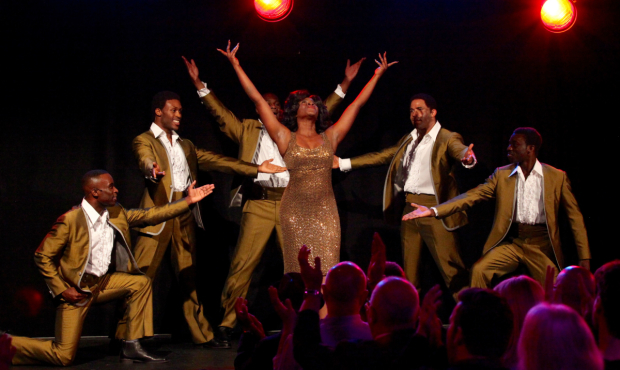 <p>The Tempations and Martha Reeves performing at the <em>Motown The Musical</em> launch. </p><br />(c) Craig Sugden.