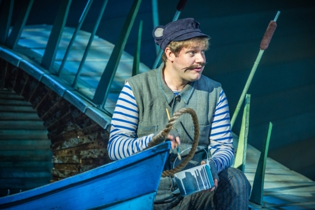 <p>Thomas Howes at Ratty in <em>The Wind in the Willows</em>.</p><br />© Marc Brenner/Jamie Hendry Productions