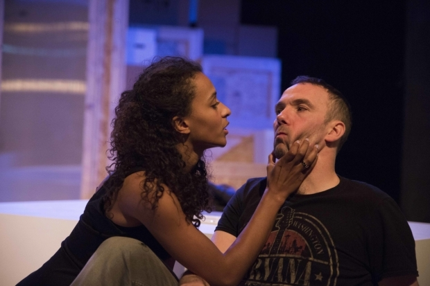 <p>Tia Bannon and Mark Rose in <em>Abigail</em></p><br />© Anton Belmonte