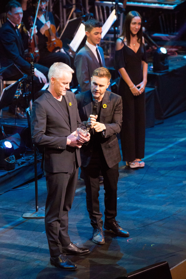 <p>Tim Firth and Gary Barlow</p><br />© Peter Gibbons