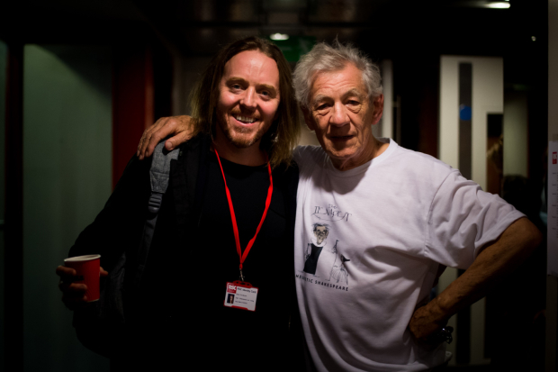 <p>Tim Minchin and Ian McKellen backstage at <em>Shakespeare Live! From the RSC</em></p><br />© David Tett