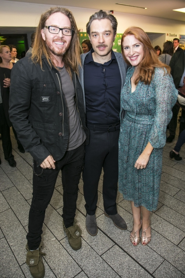<p>Tim Minchin, Hadley Fraser (Dr Frankenstein) and Rosalie Craig</p><br />© Dan Wooller for WhatsOnStage