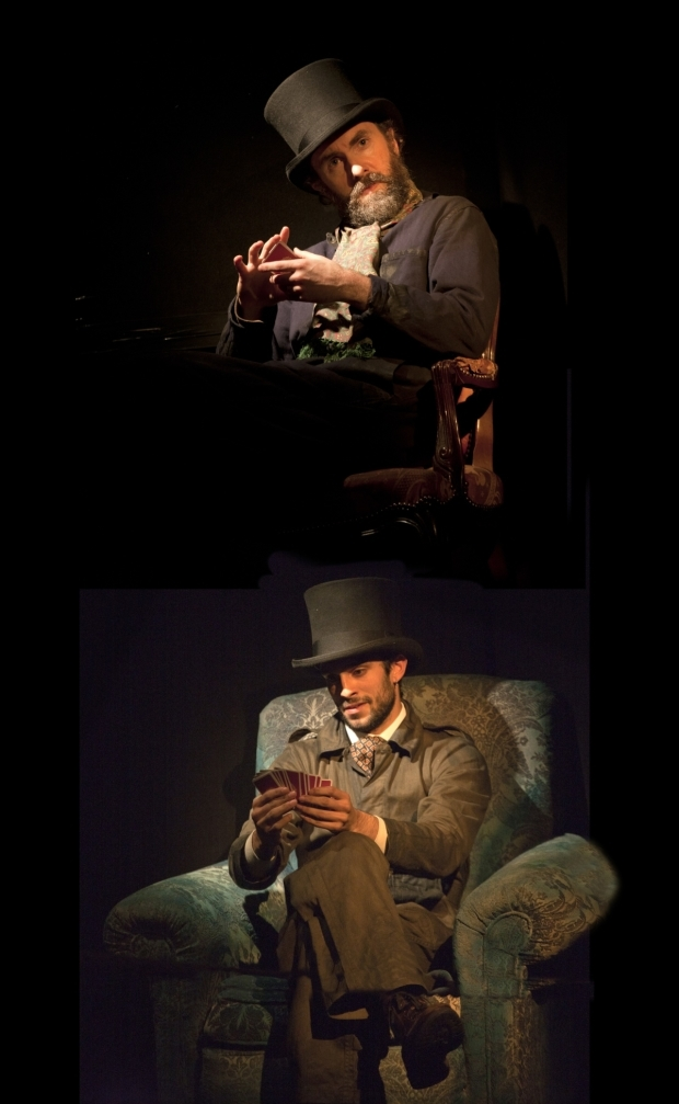 <p>Tim Steed (Colonel Proctor) and Eben Figueiredo (Mr Naidu) in <em>Around The World in 80 Days</em> at St. James Theatre</p><br />(c) Simon Annand