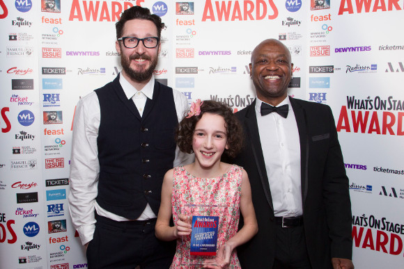 <p>Timothy Sheader, Izzy Lee and Joe Speare accept the Award for Best Play Revival for <em>To Kill A Mockingbird</em></p><br />© Dan Wooller for WhatsOnStage