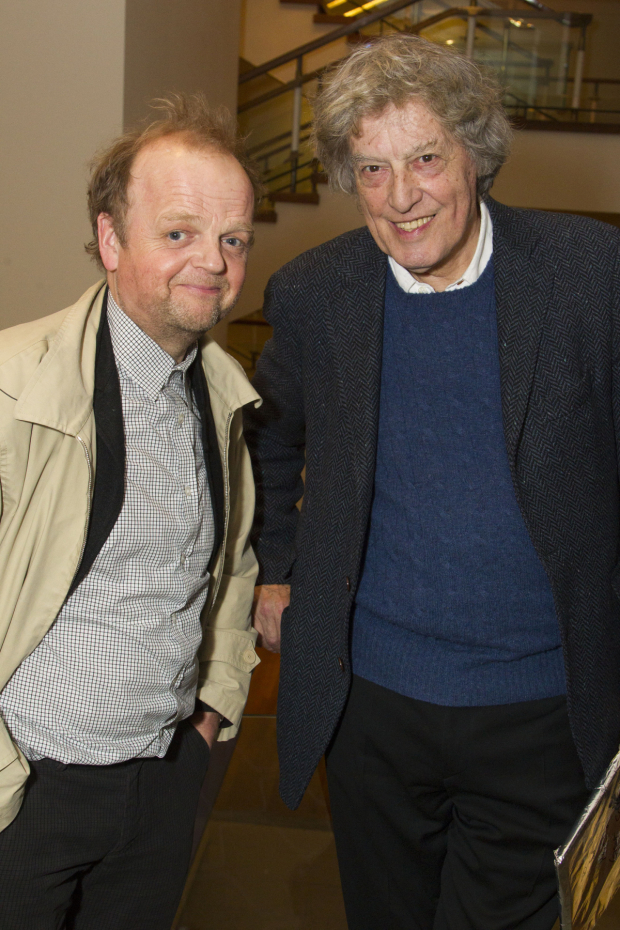 <p>Toby Jones and Tom Stoppard (author)</p><br />© Dan Wooller for WhatsOnStage