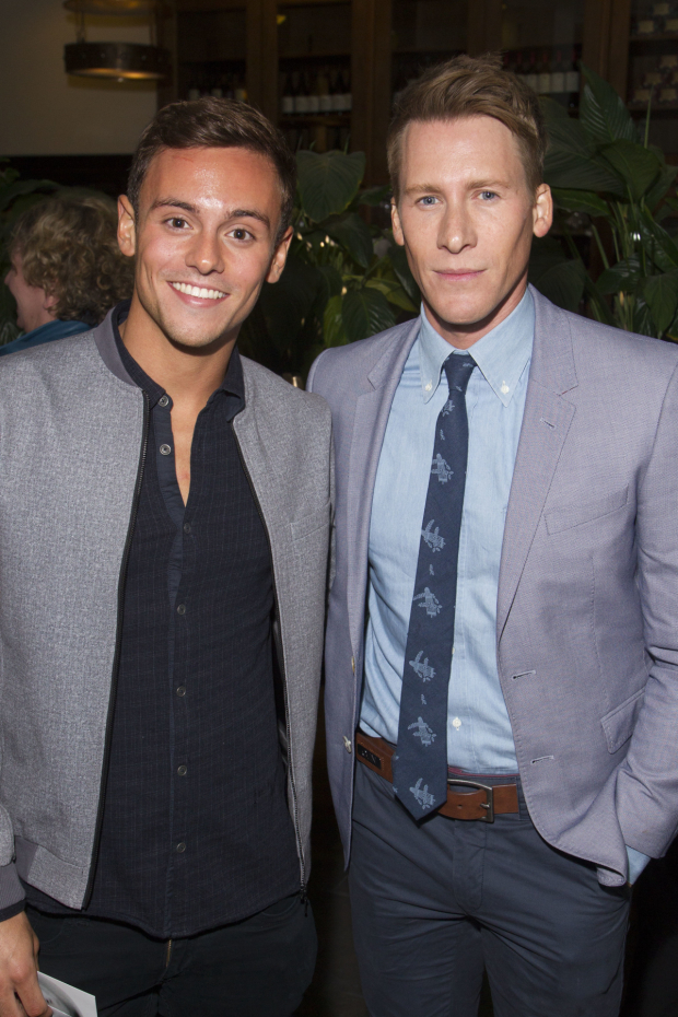 <p>Tom Daley and Dustin Lance Black</p><br />© Dan Wooller for WhatsOnStage