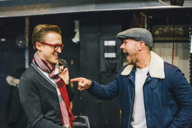 <p>Tom Fletcher (Bob Trundell) &amp&#x3B; Matt Willis (The Hunter) </p><br />© Derek Bremner