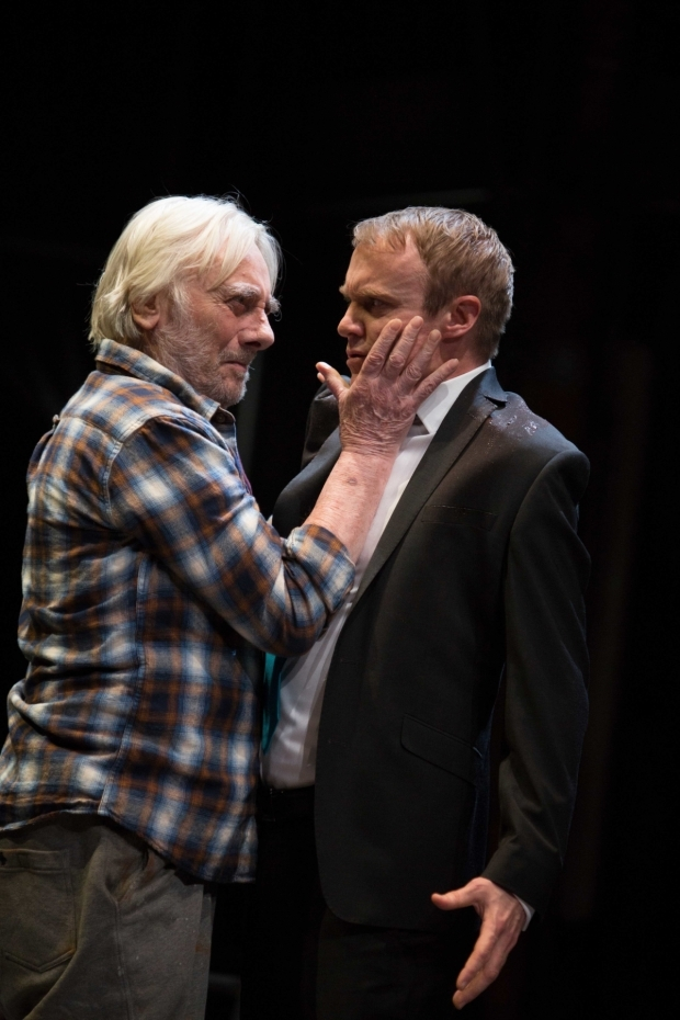 <p>Tom Georgeson and Gyuri Sarossy in <em>The Seven Acts of Mercy</em></p><br />Photo by Ellie Kurttz