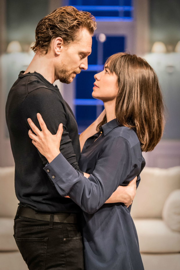 <p>Tom Hiddleston (Hamlet) and Caroline Martin (Horatia)</p><br />(c) Johan Persson