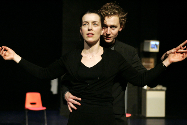 <p>Tom Hiddleston with Olivia Williams in <em>The Changeling</em> at the Barbican</p><br />© Keith Pattison