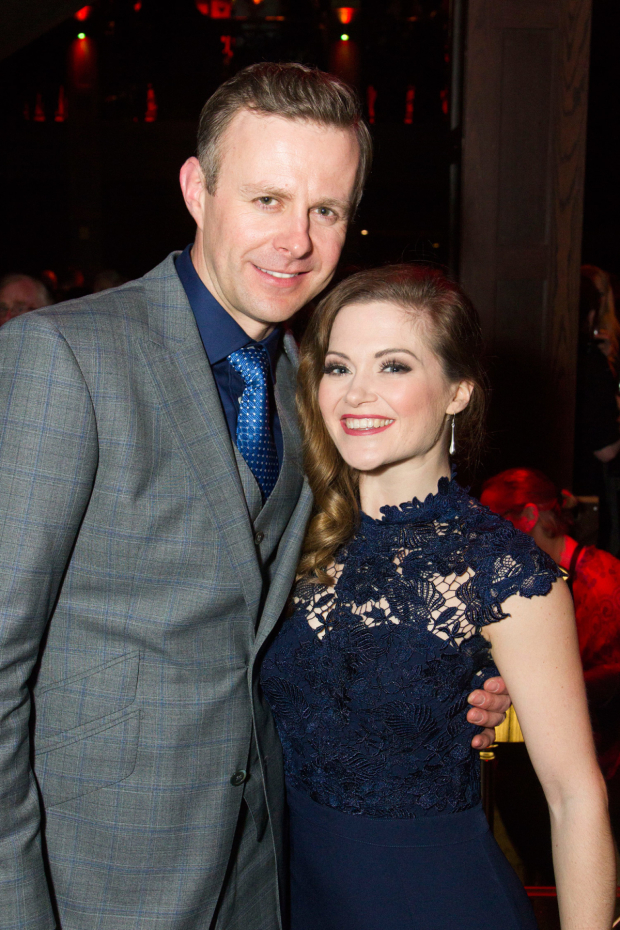 <p>Tom Lister (Julian Marsh) and Clare Halse (Peggy Sawyer)</p><br />© Dan Wooller