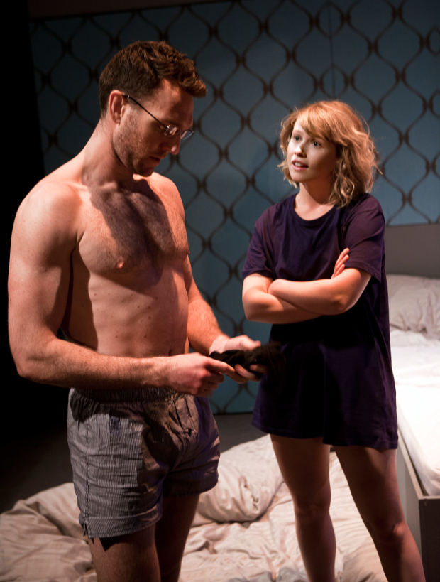 <p>Tom McKay and Rose Reynolds in <em>Drones, Baby, Drones</em></p><br />© Simon Annand