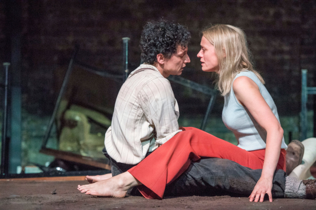 <p>Tom Mothersdale and Anne-Marie Duff in <em>Oil</em></p><br />© Richard Hubert Smith