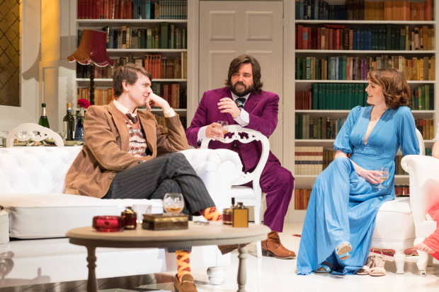 <p>Tom Rosenthal, Matt Berry and Matt Berry and Charlotte Ritchie in <em>The Philanthropist</em></p><br />© Manuel Harlan