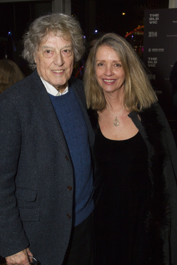 <p>Tom Stoppard (author) and Sabrina Guinness</p><br />© Dan Wooller for WhatsOnStage