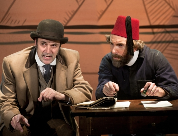 <p>Tony Gardner (Inspector Fix) and Tim Steed (Colonel Proctor) in <em>Around The World in 80 Days</em> at St. James Theatre</p><br />(c) Simon Annand