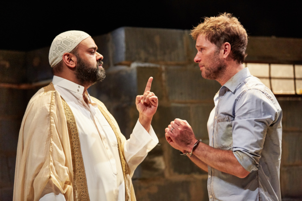 <p>Tony Jayawardena (Imam Saleem) and Daniel Lapaine (Nick)</p><br />© Mark Douet