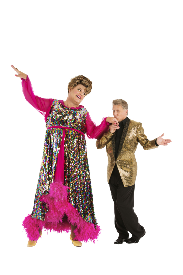 <p>Tony Maudsley as Edna Turnblad and Peter Duncan as Wilbur Turnblad</p><br />© Martin Plasek Photography