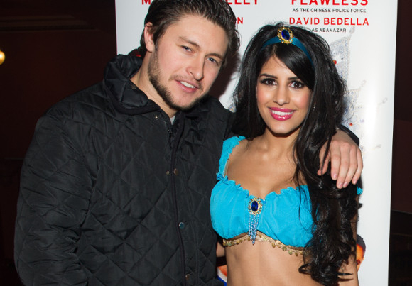 <p><em>TOWIE</em>&#39&#x3B; Jasmin Walia with partner</p><br />© Craig Sugden