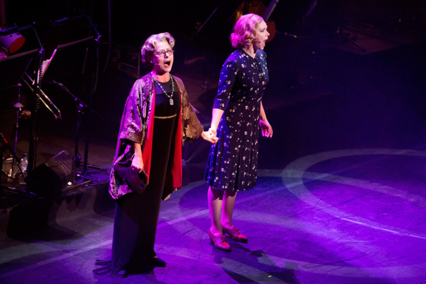 <p>Tracie Bennett and Emma Williams performing a song from <em>Mrs Henderson Presents</em></p><br />© Peter Gibbons