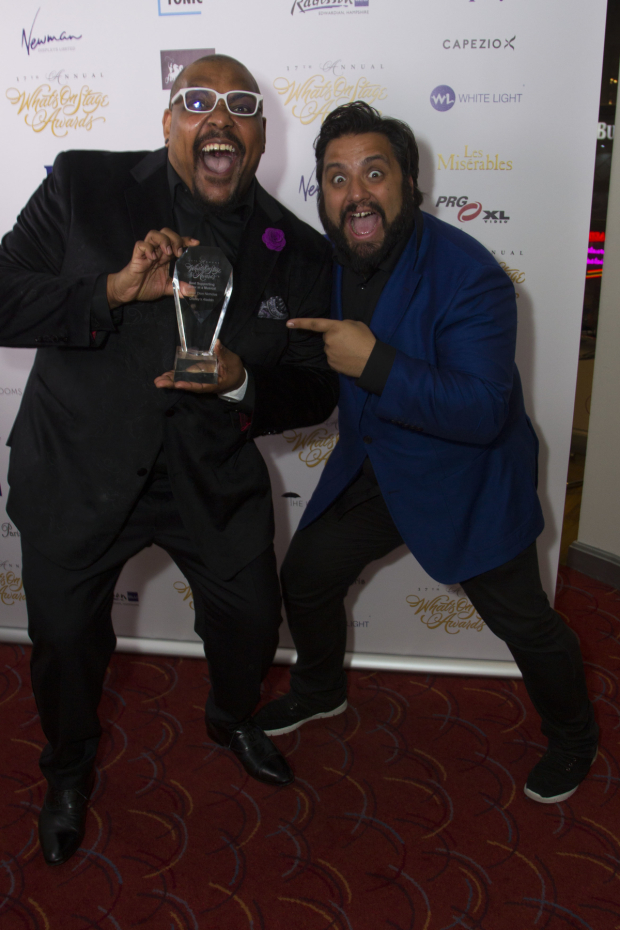 <p>Trevor Dion Nicholas and Nathan Amzi</p><br />© Dan Wooller for WhatsOnStage