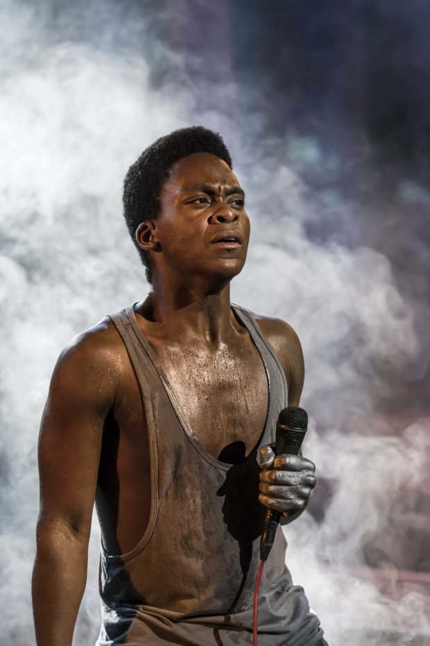 <p>Tyrone Huntley as Judas</p><br />© Johan Persson