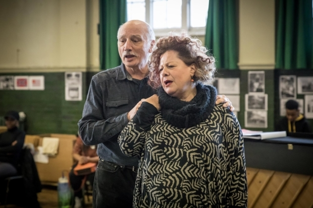 <p>Vincent Pirillo (Grandpa Gellman) and Sue Kelvin (Grandma Gellman) in rehearsal for <em>Caroline, or Change </em></p><br />© Marc Brenner