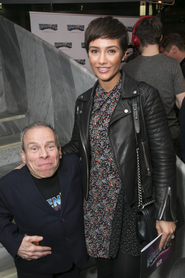<p>Warwick Davis and Frankie Bridge</p><br />© Dan Wooller