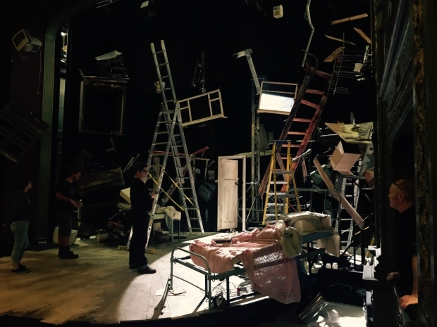 <p>We begin plotting as the set continues to be dressed</p><br />© Oliver Townsend