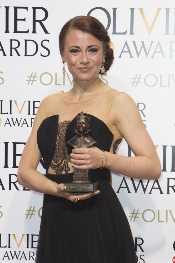 <p><em>Wicked</em>&#39&#x3B;s Emma Hatton accepts the This Morning Audience Award</p><br />© Dan Wooller