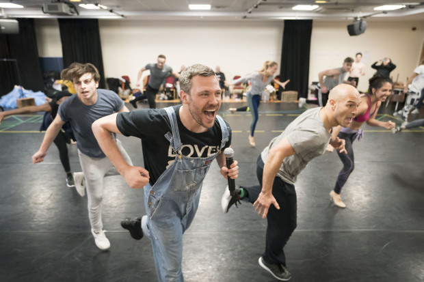 <p>Will Young and the cast of <em>Strictly Ballroom</em></p><br />© Johan Persson