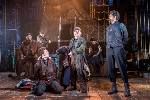 <p>William Pennington, Dan Starkey, Ian Harris in <em>Peter and the Starcatcher</em></p><br />© Manuel Harlan
