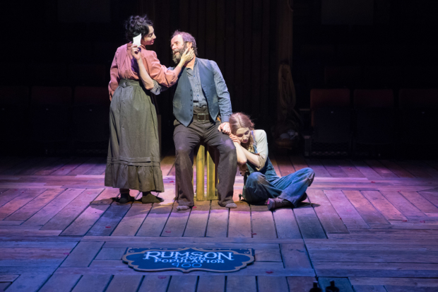 <p>Zelina Rebeiro, Patrick Brennan, and Emily Hughes in <em>Paint Your Wagon</em> </p><br />© Jonathan Keenan