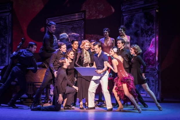 <p>Zoe Rainey and Robert Fairchild, centre, with the cast of <em>An American in Paris</em></p><br />© Johan Persson