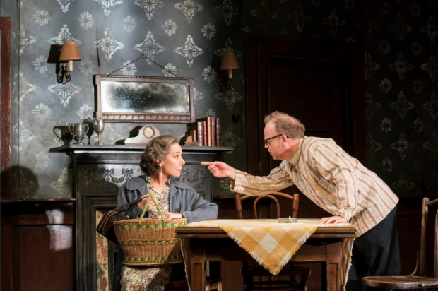 <p>Zoë Wanamaker and Toby Jones in <em>The Birthday Party</em></p><br />© Johan Persson