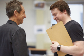 Sheffield Crucible's Frost/Nixon rehearsal photos