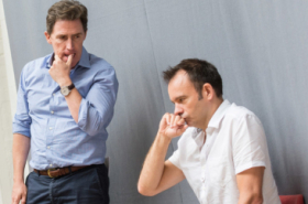 Rob Brydon and cast rehearse Future Conditional