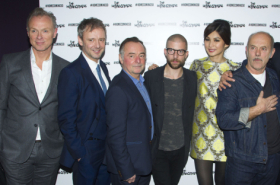 The cast of The Homecoming celebrate opening night