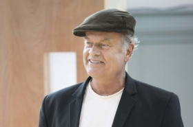 Kelsey Grammer and Clare Burt in rehearsals for Big Fish