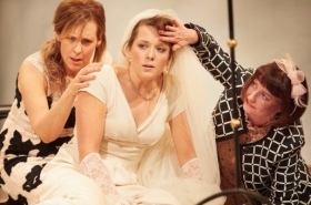 Mel Giedroyc and John Hopkins in Much Ado About Nothing at Rose Theatre Kingston: first look