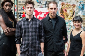 Sean Kinglsey, Louis Maskell and Julian Bleach in new musical The Grinning Man