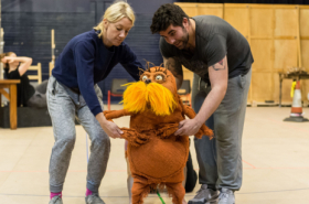 Simon Lipkin and cast rehearse The Lorax